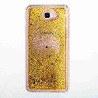J7 J5 J3 Prime Capa Glitter Liquid Quicksand Stars Case For Samsung Galaxy J3 J5 J7 Prime Cover Silicon TPU Phone Bags Cases