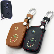 Car Genuine Leather Remote Control Car Keychain Key Cover Case For Lexus RX270 CT200H ES240 3Buttons With Light At Night L275