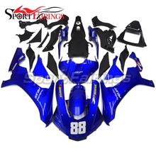 ABS Full Motorcycle For Yamaha R1 2015 2016 Fairing Kits YZF-R1 15 16 Injection Cowlings Blue Pearl Body Kits Fairing Kit New