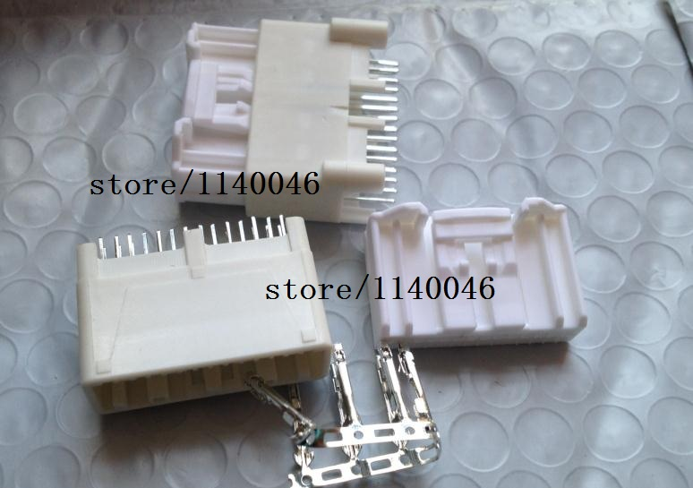 2set /LOT The 28 hole FOR To-yota CD AUX USB plug connectors ECU control module 28pin<br>