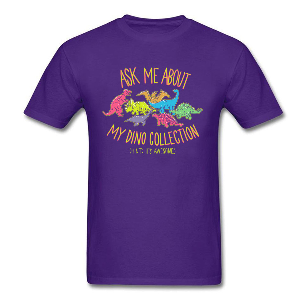 Normal dino collection 5493 Men T Shirt Newest Autumn Short Sleeve Crewneck 100% Cotton Tops & Tees Normal Tee-Shirt dino collection 5493 purple