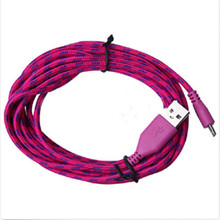 Rose Red Braided Fabric Small USB Data Sync Charger 1M Cable Wire For Universal Cell Phone Accessories 2016 Hot Selling