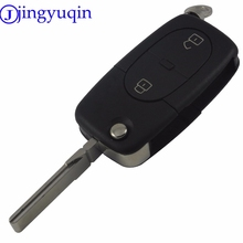 jingyuqin 2 Buttons Hot Selling Car-styling Folding Flip Remote Key Case Shell Cover For AUDI A2 A3 A4 A6 A8 TT