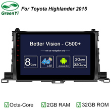 "Octa Core 2 Din 10.1"" Android 6.0 Car Radio DVD GPS For Toyota Highlander 2015 With 2GB RAM Bluetooth WIFI 32GB ROM Mirror-link"