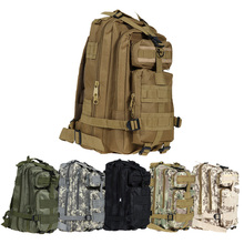 Outdoor Black Tactical Sport Bags Military Backpack Camping Mountaineering Hiking Backpacks Molle Sport Bag Climbing Rucksack(China)