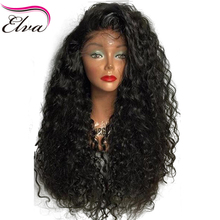 Elva Hair 250% Density Lace Front Human Hair Wigs For Black Women Brazilian Remy Hair Curly Lace Wigs Pre Plucked With Baby Hair(China)