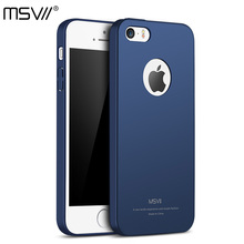 MSVII Brand Luxury Updated 4-Level Oil-Painting Case for Apple iPhone 5 / 5S / SE Hard PC Simple and Frosted Back Cover Shell