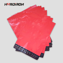 HARD IRON Free Shipping Red color Express Bag Poly Mailer Mailing Bag Envelope Pouches Self Adhesive Seal Plastic Bag(China)