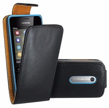 Case For Nokia 301 , Premium Leather Flip Book Case Cover For Nokia 301 / Nokia 301 Dual Sim (black)