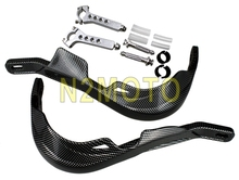 "Carbon Motorcycles Hand Protector Fat Bars & Standard 22mm 28mm Handguard Hand Guards For 7/8"" 1-1/8"" Yamaha Suzuki(China)"