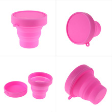 Outdoor Travel Silicone Retractable Folding Tumblerful Telescopic Collapsible Folding Water Drinkware Cups(China)