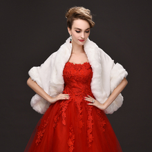 Beige/Red/Black Women Winter Faux Fur Bridal Cape Wedding Fur Bolero For Evening Party Bolero Jacket Wedding Shawl Shrug Boleros
