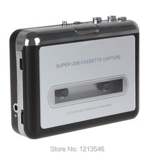 Free Shipping USB cassette capture Player,Tape to PC, Super Portable USB Cassette-to-MP3 Converter Capture
