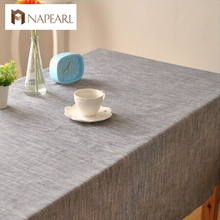 Solid color Japanese-style striped plain cotton linen with simple theatrical drape factory outlets table cloth fabrics