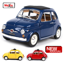 Maisto Bburago 1:24 Fiat 500F(1965) Fiat 500L(1968) Retro Classic Car Diecast Model Car Toy New In Box Free Shipping 22098