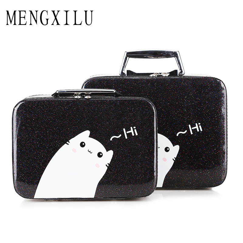 MENGXILU Fashion Cartoon Makeup Bag Cosmetic Cases New Designer Portable Organizer Bags Travel Waterproof Large Capacity Bags<br>