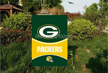 "Green Bay Packers National Football Team Garden flag kintted polyester double sides 13""X18"" custom flag Home Deco Indoor Outdoor"
