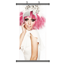 45X95CM Singer Star Lady Gaga print photography figure portrait wall scroll picture mural poster art cloth canvas painting gift
