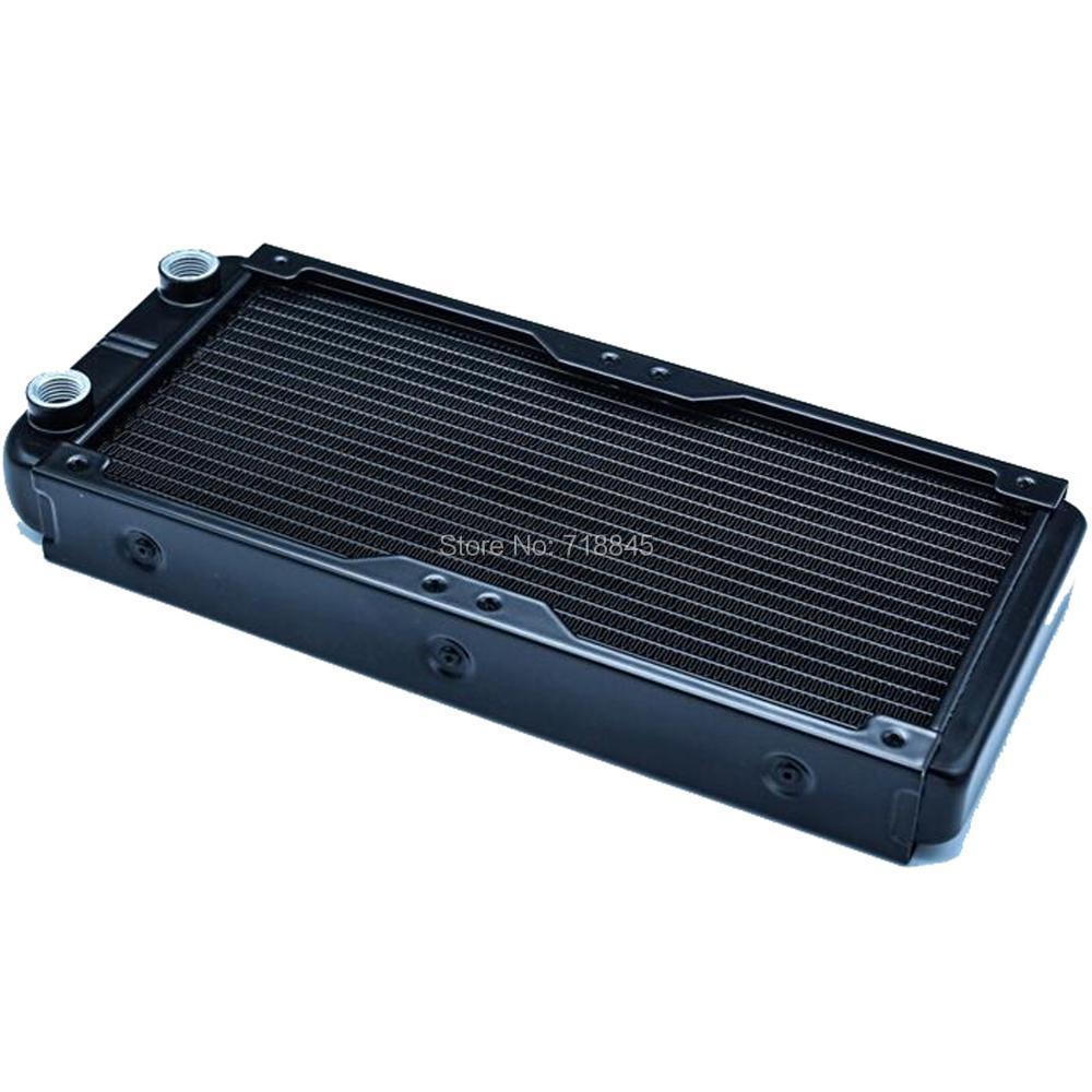 Good 120 240 double water discharge heat exchanger radiator set 12cm fan<br>