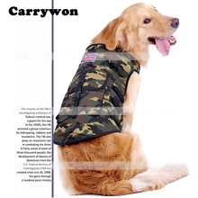 Carrywon Pet Fashinal Camouflage Pattern Dog Clothes International UK USA Flag Decoration Pets Vest Clothing Large Dogs Hoddies(China)