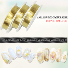 1pcs/lot gold silver Rolls copper wire Line DIY Nail Art Tips Decoration Sticker(China)