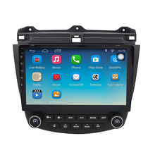 Android 6.1.1 GPS Navigation 10.1 Inch for Honda Accord 7 2003-2007 Car Radio With 1080P Video Bluetooth Support(China)