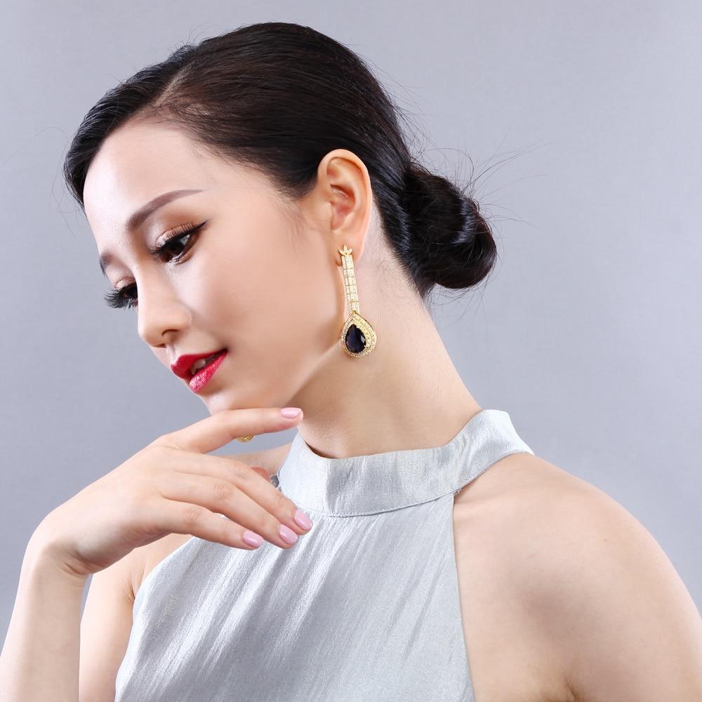 big water drop stone earrings (3)