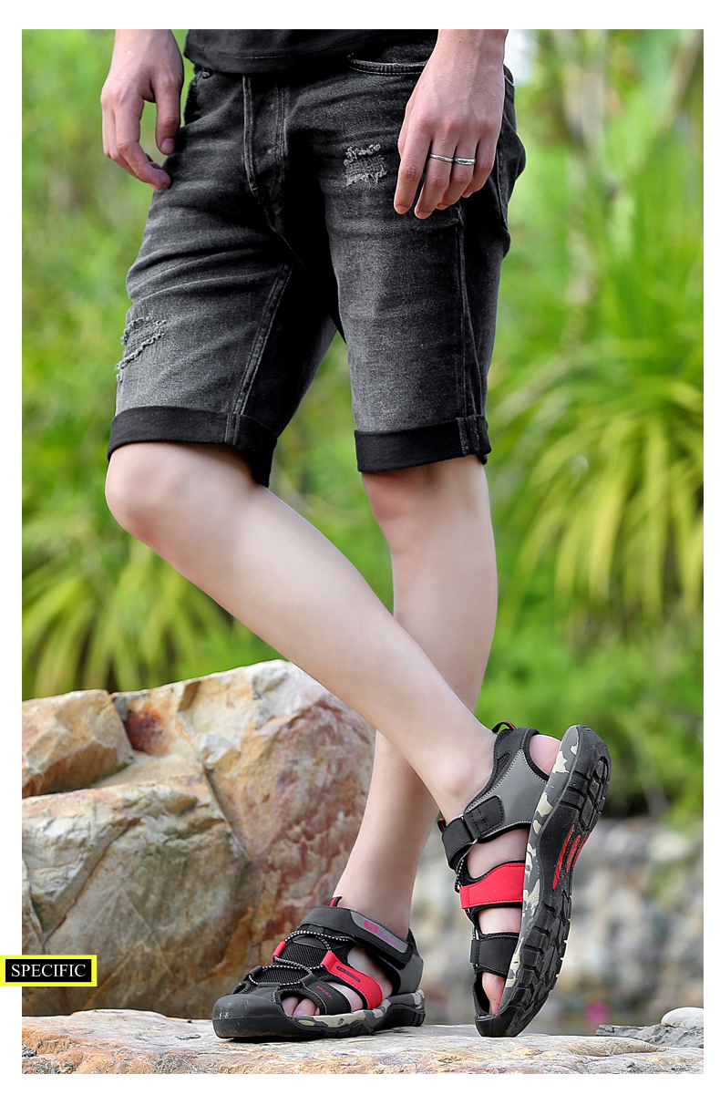 Leader Show Men Fashion Casual Shoes Summer New Adult Outdoor Beach Shoes High Quality Comfortable Man Baotou Sandals Breathable 15 Online shopping Bangladesh
