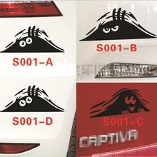50pcs/lot Car styling stickers Reflective Waterproof Funny Peeking Monster car sticker vinyl decals decoration auto decor