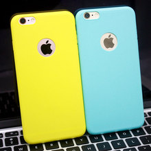 High Quality Hot Sale Candy Colors Soft TPU Phone Back Cases For Iphone SE 5 5S 6 6S 7 Plus Coque with logo window Accessories
