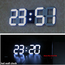 Lowest Price Of Whole Network Large Modern Design Digital Led Wall Clock Big Creative Vintage Watch Home Decoration Decor 3d(China)