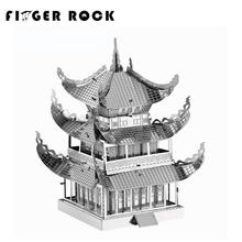 Finger Rock Metal 3D Puzzle Auckland Sky Tower Pharos  DIY Model World's Famous Buliding Jigsaw Toys for Children