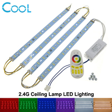 Ceiling Lamp LED Rigid Strip Lighting with 2.4G Remote Control Driver RGB + Warm White + White set.