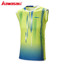 KAWASAKI ST-171003 Sleeveless Sports T-Shirt for Men Male Professional Badminton T Shirts Quick Dry Breathable Tennis Clothing