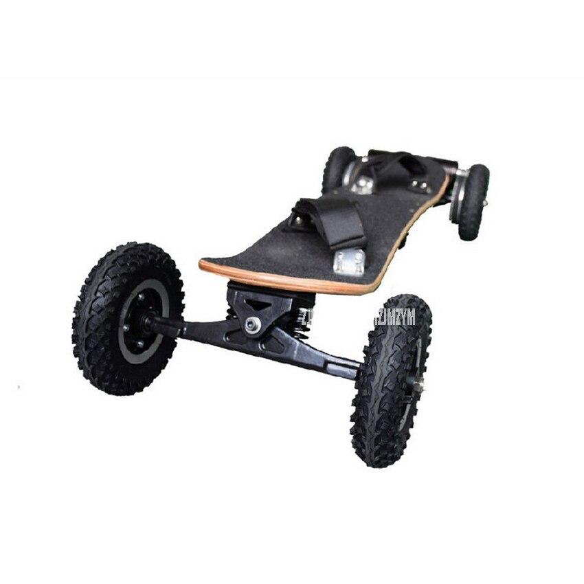 Четыре колеса, Электрический скейтборд двойной мотор 1650 Вт Мощность Электрический Longboard скутер увеличила Совета E-Скутер Ховерборда деревянная доска