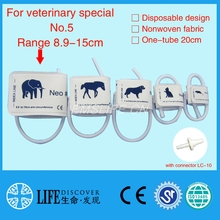 Disposable Non woven fabric NIBP Cuff with Single tube for Veterinary paitent monitor No.5 elephants with connector LC-10(China)