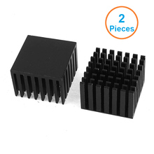2pcs Anodized Black Aluminum FIn Heatsink 28x28x20mm Electronic Cooler Radiator Heat sink for Northbridge Southbridge IC Chip
