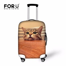 FORUDESIGNS Kawaii Cat Luggage Protective Cover Cute Animal Pug Dogs Travel Suitcase Dust Cover Elastic Waterproof Case Covers(China)