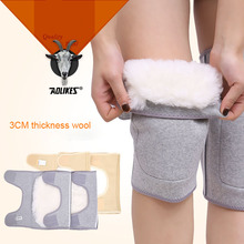 AOLIKES 1 Pair Winter Warm Knee Protector Wool Knee Pad Adjustable Relief Prevent Arthritis Knee Guard Sports Knee Support(China)