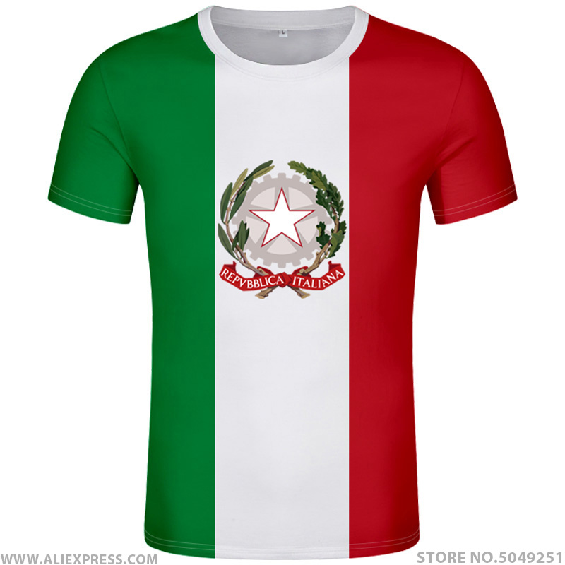 T-Shirts Clothing Italian Green White Red Flag Map Graphic T-Shirt Gentlemen Classic Short Sleeve T-Shirts T-Shirt Plus Size