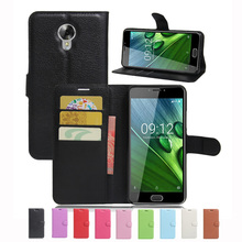 Wallet Case For Acer Liquid Z6 Plus / Z6 PU Leather Kickstand Back Shell Pink Rose Green Purple Blue Black White Brown