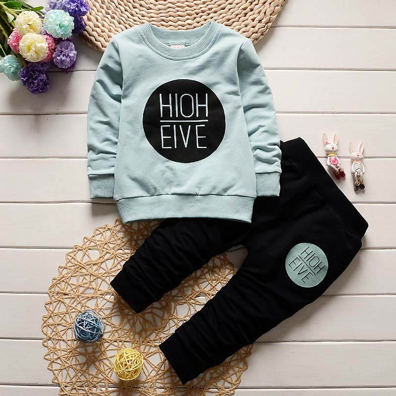 Baby Boy Clothing Sets Kids Clothes Spring Autumn Toddler Sport Shirt+Pants 2pcs
