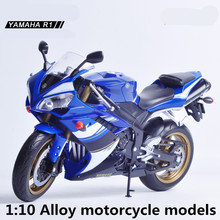 1:10 Alloy motorcycle models,high simulation metal casting motorcycle toys,Yamaha R1 rally Road Racing,free shipping