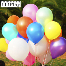 Buy Silver Balloon 10pcs/lot 12inch Latex Balloon Air Ball Inflatable Wedding Party Decoration Balloon Happy Birthday Party Supplies for $1.42 in AliExpress store