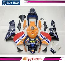 Nice Painting Fairing Kits Set Honda CBR600RR 2003 Rossi VR46 Repsol Fairings Bodywork CBR600 RR 2004 Kit - AFTERMARKET OEM FAIRINGS store
