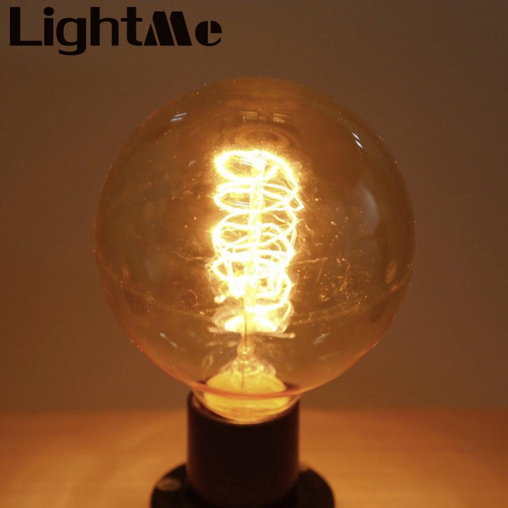 New High Quality 6 pcs G95 Lightme 230V 40W E27 110 - 120LM32AK Retro Round LED Ball Bulb Tungsten Energy-Saving Lamp Wholesales<br><br>Aliexpress