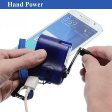 Universal Portable Hand Power Dynamo Hand Crank USB Cell Phone Emergency Charger For iphone Samsung Xiaomi High Quality