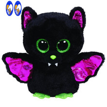 (A Toy A Dream)Original Ty Beanie Boos Big Eyes Plush Toy Doll Colorful Rabbit Baby Kids Gift Bat 15 cm