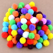 Free shipping-100pcs/lot Small Multicolour DIY Decoration Ball 20mm Fur Ball Pompon Home Decor Decorative Flowers Crafts K01445(China)