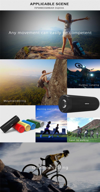 M&J Wireless Best Bluetooth Speaker Waterproof Portable Outdoor Mini Column Box Loudspeaker Speaker +Power Bank+LED light M&J Wi
